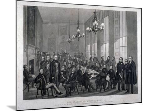 Interior View of the British Coffee House on Cockspur Street, Westminster, London, 1839--Mounted Giclee Print