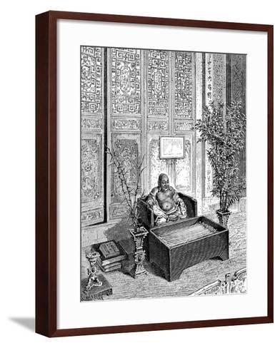 Domestic Altar, the Smiling Buddha, C1890--Framed Art Print