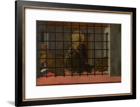 Saint Mamas in Prison Thrown to the Lions, 1455-1460-Fra Filippo Lippi-Framed Art Print