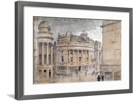 The Argyll Rooms, Little Argyll Street, Westminster, London, C1830--Framed Art Print