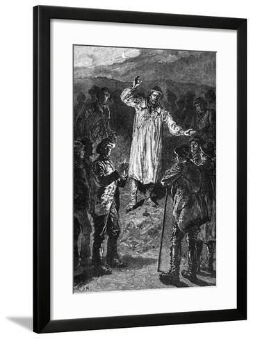 Meeting of Agricultural Labourers at Wootton Bassett, Wiltshire, C19th Century--Framed Art Print