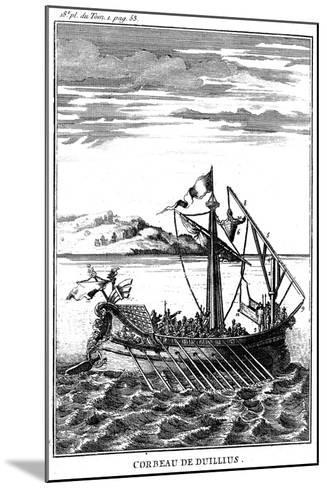 Roman War Galley Equipped with a Corvus (Righ), 18th Century--Mounted Giclee Print