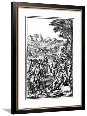 Khoikhois Bartering Cattle, South Africa, 1931--Framed Art Print
