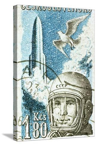 Yuri Gagarin, Soviet Russian Cosmonaut, 1961--Stretched Canvas Print
