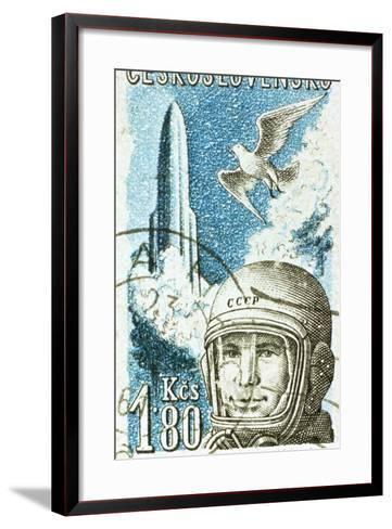 Yuri Gagarin, Soviet Russian Cosmonaut, 1961--Framed Art Print
