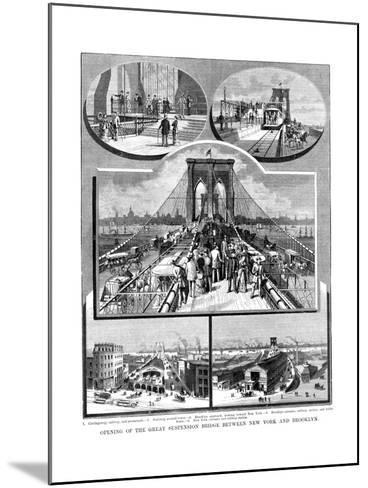 Brooklyn Suspension Bridge, New York, 1883--Mounted Giclee Print