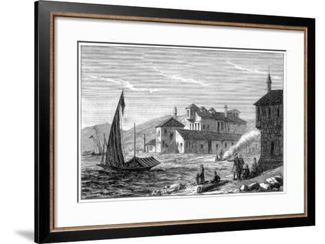 Where Lord Byron Died, Missolonghi, Greece, 1888--Framed Art Print