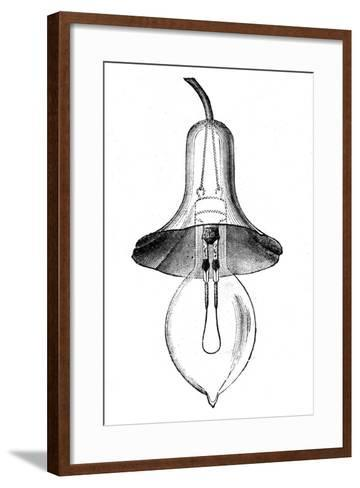 Incandescent Filament Lamp, Glow-Lamp, by Lane-Fox, 1883--Framed Art Print
