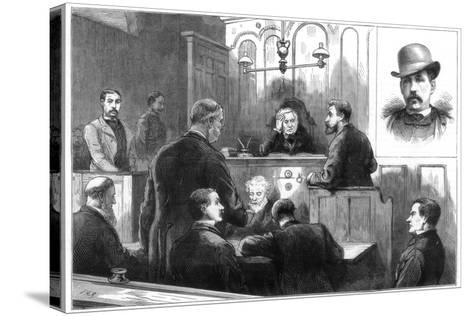 Examination of John Daly, Alias Denman, at the Birkenhead Police Court, 1884--Stretched Canvas Print