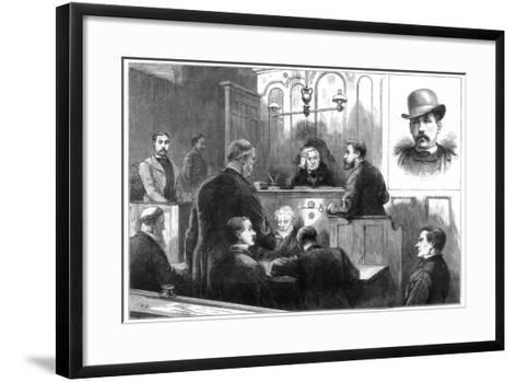 Examination of John Daly, Alias Denman, at the Birkenhead Police Court, 1884--Framed Art Print