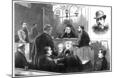Examination of John Daly, Alias Denman, at the Birkenhead Police Court, 1884--Mounted Giclee Print