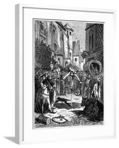Medieval Acrobat and Street Entertainment, 1882-1884-G Jeanne-Framed Art Print