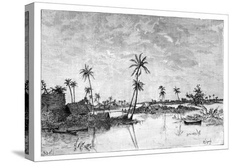 Indian Settlement on the Islands of San Blas Bay, C1890--Stretched Canvas Print