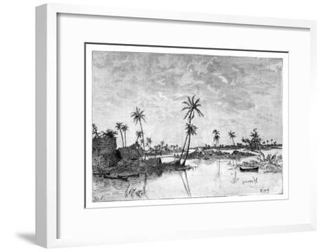 Indian Settlement on the Islands of San Blas Bay, C1890--Framed Art Print