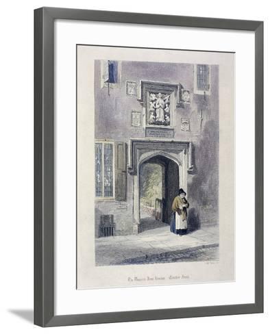 Crutched Friars, London, 1851-John Wykeham Archer-Framed Art Print