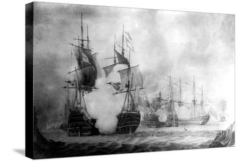 The Battle at Cape St Vincent, 19th Century--Stretched Canvas Print