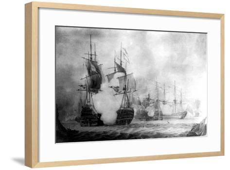 The Battle at Cape St Vincent, 19th Century--Framed Art Print