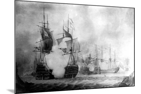 The Battle at Cape St Vincent, 19th Century--Mounted Giclee Print