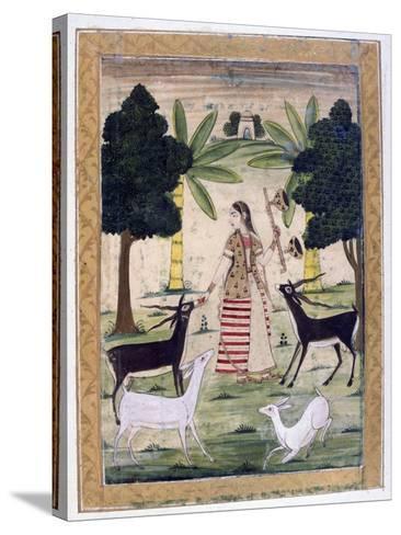 Todi Ragini, Ragamala Album, School of Rajasthan, 19th Century--Stretched Canvas Print