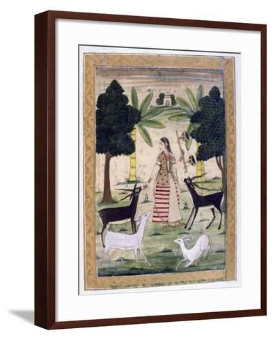 Todi Ragini, Ragamala Album, School of Rajasthan, 19th Century--Framed Art Print