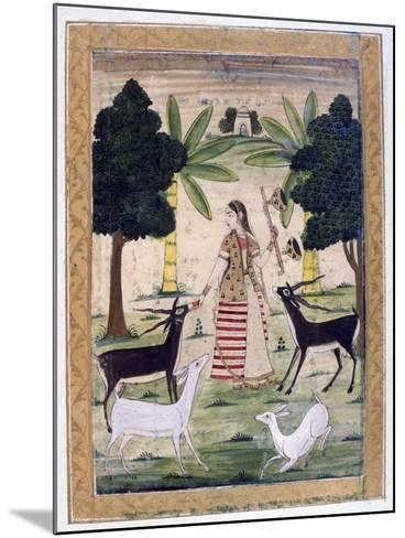 Todi Ragini, Ragamala Album, School of Rajasthan, 19th Century--Mounted Giclee Print