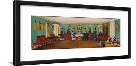 The Drawing Room in the House of Count Josef August Ilinsky in Romaniv, 1834--Framed Art Print