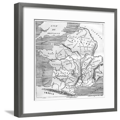 A Map of Gaul During the Time of Augustus, 1848, (1882-188)- MacCarthy-Framed Art Print