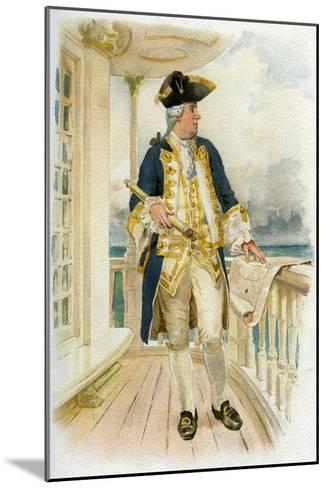 Admiral, 18th Century (C1890-C189)--Mounted Giclee Print