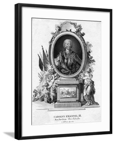 Charles Emmanuel III of Sardinia, Duke of Savoy and King of Sardinia, (1701-177)--Framed Art Print