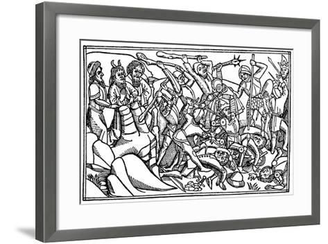 Moses Praying for the Victory of Israel, 1480--Framed Art Print