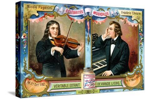 Nicolo Paganini and Frederic Chopin, C1900--Stretched Canvas Print