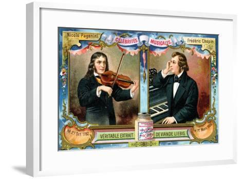 Nicolo Paganini and Frederic Chopin, C1900--Framed Art Print