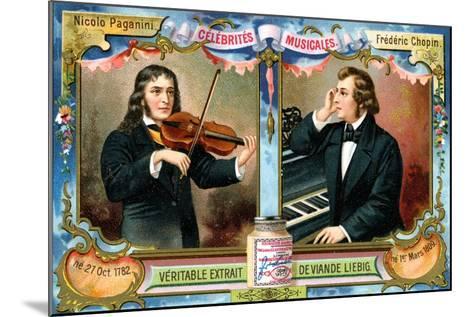 Nicolo Paganini and Frederic Chopin, C1900--Mounted Giclee Print