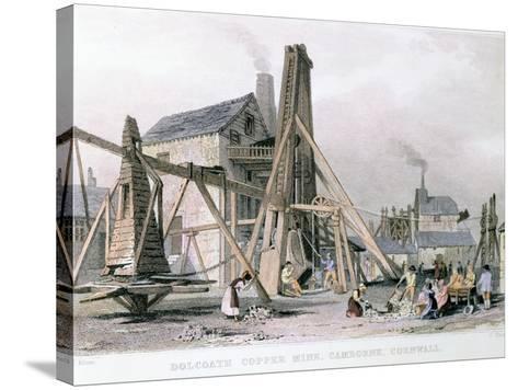 Dalcoath Copper Mine, Camborne, Cornwall, C1830--Stretched Canvas Print