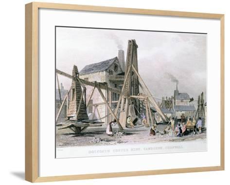 Dalcoath Copper Mine, Camborne, Cornwall, C1830--Framed Art Print