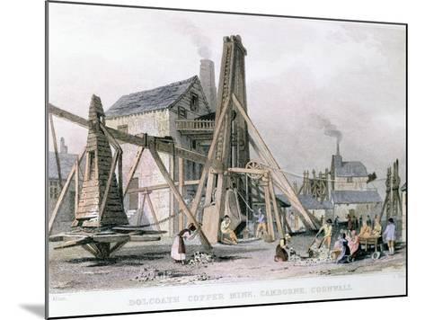 Dalcoath Copper Mine, Camborne, Cornwall, C1830--Mounted Giclee Print