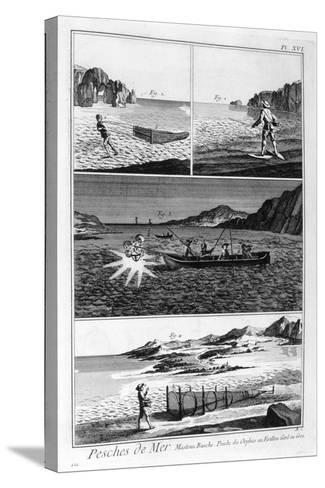 Sea Fishing, 1751-1777--Stretched Canvas Print