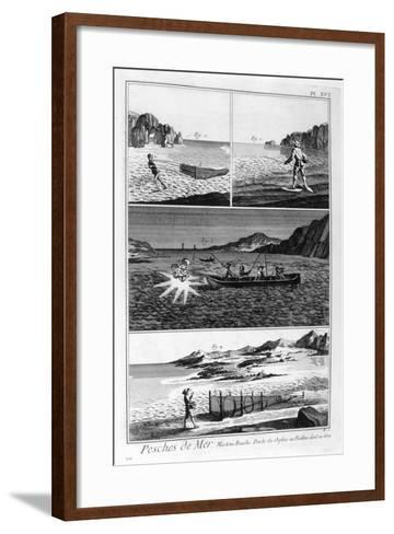 Sea Fishing, 1751-1777--Framed Art Print