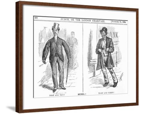 Tight and Needy, 1884-Charles Samuel Keene-Framed Art Print