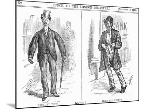 Tight and Needy, 1884-Charles Samuel Keene-Mounted Giclee Print