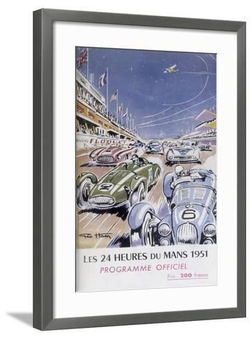 Programme for Le Mans 24 Hours, 1951--Framed Art Print