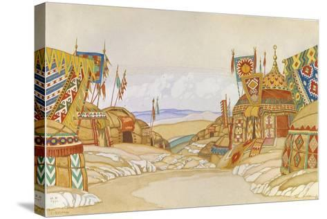 The Polovtsian Camp. Stage Design for the Opera Prince Igor by A. Borodin, 1930-Ivan Yakovlevich Bilibin-Stretched Canvas Print