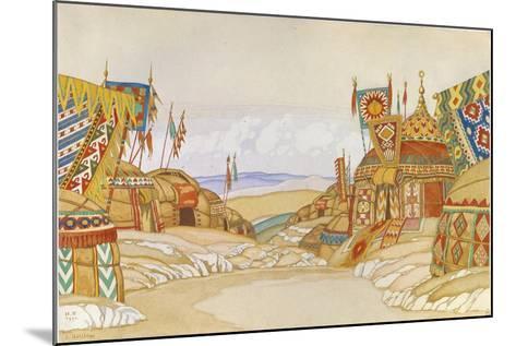 The Polovtsian Camp. Stage Design for the Opera Prince Igor by A. Borodin, 1930-Ivan Yakovlevich Bilibin-Mounted Giclee Print