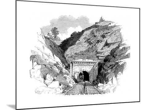 Locomotive Emerging from the Kingwood Tunnel Through the Alleghany Mountains, 1861--Mounted Giclee Print