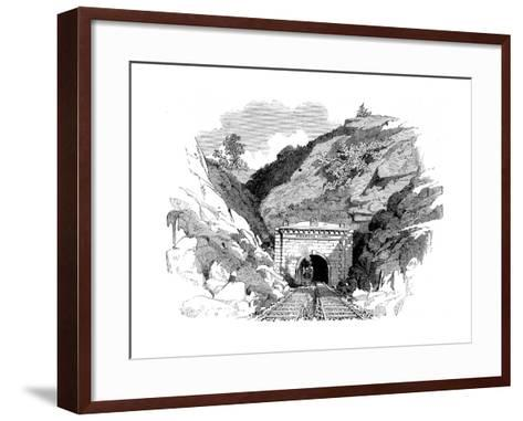 Locomotive Emerging from the Kingwood Tunnel Through the Alleghany Mountains, 1861--Framed Art Print
