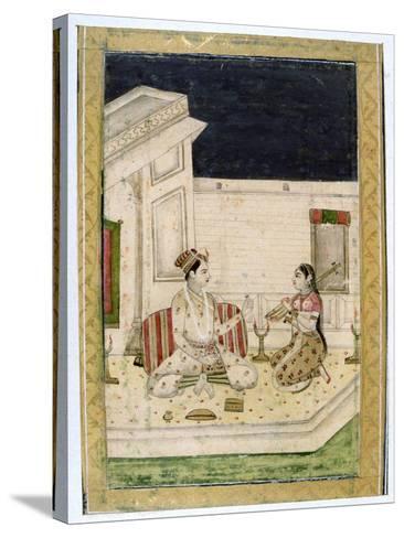 Dipaka (Ligh) Raga, Ragamala Album, School of Rajasthan, 19th Century--Stretched Canvas Print
