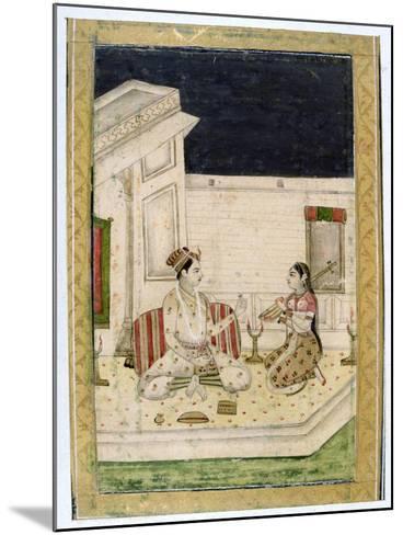 Dipaka (Ligh) Raga, Ragamala Album, School of Rajasthan, 19th Century--Mounted Giclee Print