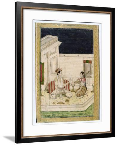 Dipaka (Ligh) Raga, Ragamala Album, School of Rajasthan, 19th Century--Framed Art Print