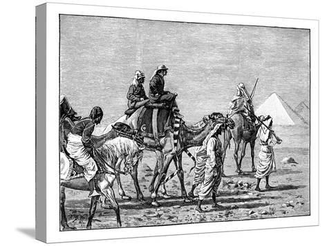 The Prince of Wales at the Pyramids, C1861--Stretched Canvas Print