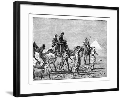 The Prince of Wales at the Pyramids, C1861--Framed Art Print